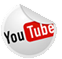 small round button with the YouTube logo